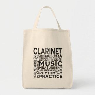 Bolsa Tote Tipografia do clarinete