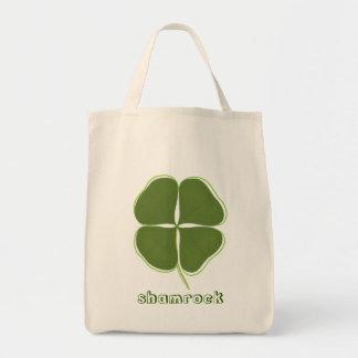 Bolsa Tote Trevo verde escuro, as quatro bolsas de canvas do