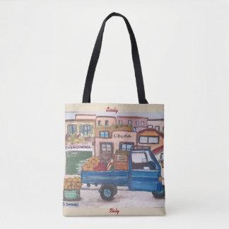 Bolsa Tote Um mini caminhão do mercado - por todo o lado na