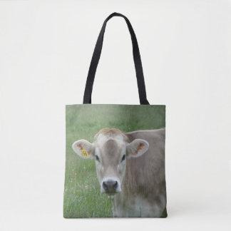 Bolsa Tote Vaca doce do jérsei da cara
