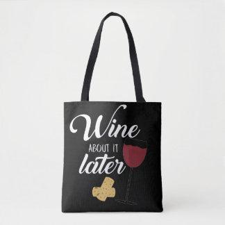 Bolsa Tote Vinho sobre ele sacola mais atrasada