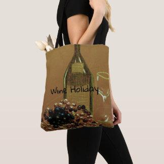 Bolsa Tote Vino do feriado do vinho e sacola deliciosos das