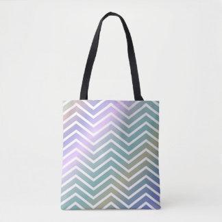 Bolsa Tote Ziguezague colorido brilhante