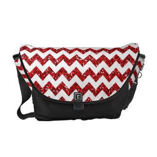 Bolsa vermelha moderna do bolsa do saco do zigueza