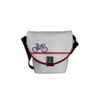 Bolsas Mensageiro Bicicleta com linhas de bandeira