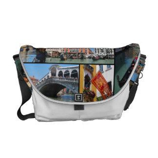 Bolsas Mensageiro Colagem de Veneza