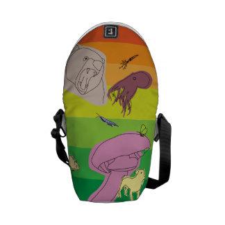 Bolsas Mensageiro Criaturas coloridas