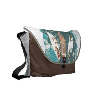 Bolsas Mensageiro marrom azul do saco do rickshaw dos conselhos de