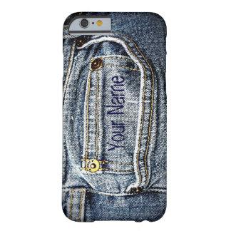 Bolso azul da sarja de Nimes de Jean - adicione Capa Barely There Para iPhone 6