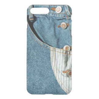 Bolso azul de Jean da sarja de Nimes Capa iPhone 7 Plus