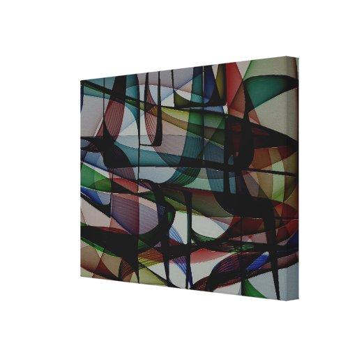 Bolsos da cor - impressão abstrato das canvas impressão em tela