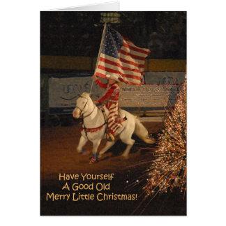 Bom alegre pouco cartão de Natal