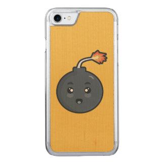 Bomba de Kawaii Capa Para iPhone 7 Carved