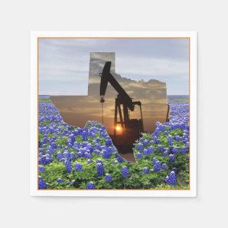 Bomba de óleo Jack de Texas no por do sol em Guardanapo De Papel