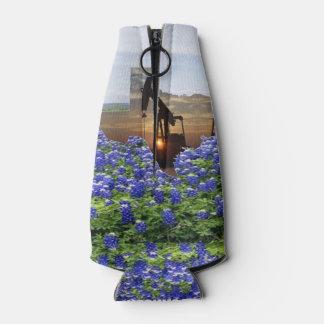 Bomba de óleo Jack de Texas no por do sol em Porta-garrafa