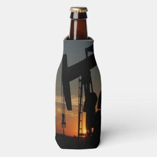 Bomba de óleo Jack no por do sol Porta-garrafa