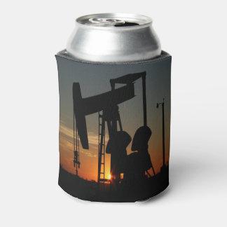 Bomba de óleo Jack no por do sol Porta-lata