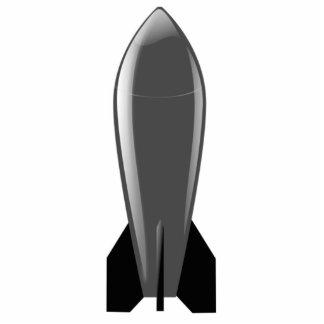 Bomba nuclear dos desenhos animados escultura de fotos