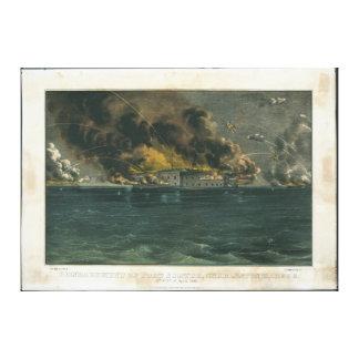 Bombardeio do forte Sumter por Ives