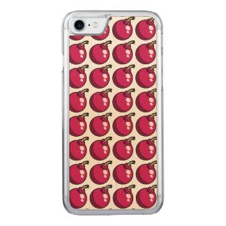 Bombas de cereja capa para iPhone 7 carved