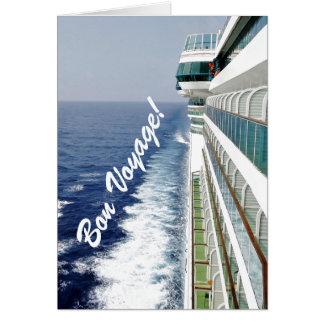 Bon voyage da fileira do balcão cartão comemorativo