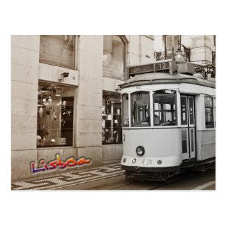 Bonde e cor de Lisboa Cartão Postal
