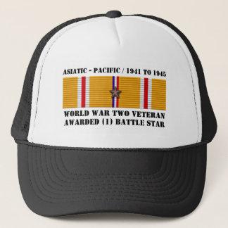Boné 1 veterano pacífico asiático da ESTRELA WWII da