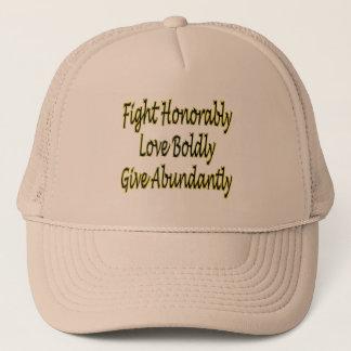 Boné A luta honoràvel, ama corajosamente, dá abundante