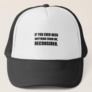 Boné A necessidade qualquer coisa reconsidera