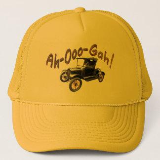 Boné Ah-Ooo-Gah amarelo oxidado engraçado do chifre de