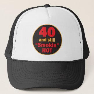 Boné Aniversário de 40 anos quente de quarenta e ainda