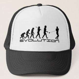 Boné Arte da evolução do esporte do lance de martelo