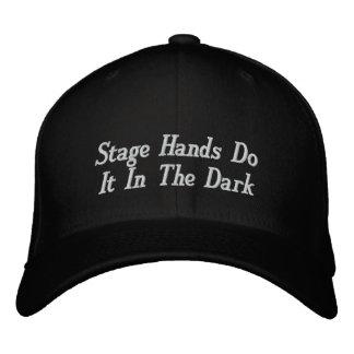 Boné As mãos do palco fazem-no na obscuridade