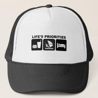 Boné As prioridades da vida, Windsurfing