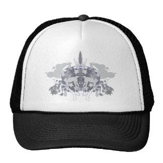 Boné azul do chapéu do outliner do Grayscale de Do