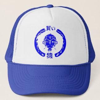 Boné Azul sábio do macaco
