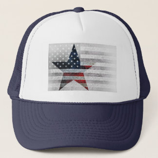 Boné Bandeira americana rústica da estrela