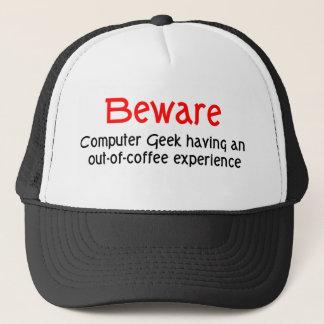 Boné Beware o chapéu do geek do computador