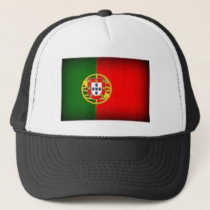 Boné Borda do preto da bandeira de Portugal d14cbb70a2592