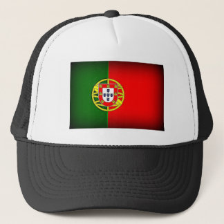 Boné Borda do preto da bandeira de Portugal