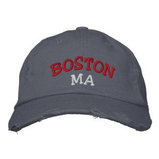 Boné Bordado Boston, MÃES bordou o chapéu