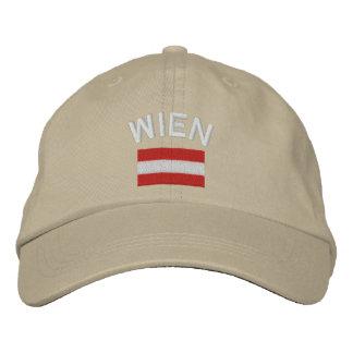 Boné Bordado Chapéu de Wien mais a bandeira austríaca