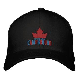 Boné Bordado Chapéu do acampamento da folha de bordo