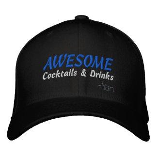 Boné Bordado Cocktail e bebidas impressionantes