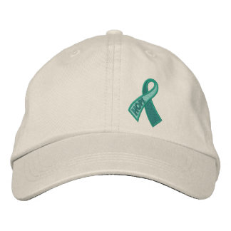 Boné Bordado Consciência da fita do cancer da esperança do jade