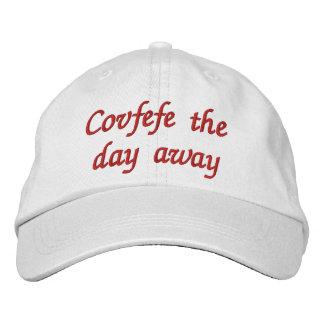 Boné Bordado Covfefe do dia o chapéu bordado engraçado afastado