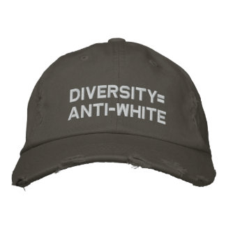 Boné Bordado Diversity=Anti-White