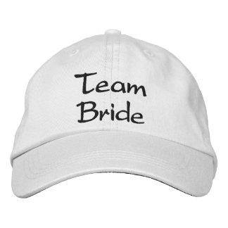 Boné bordado do casamento da noiva da equipe