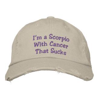 Boné Bordado Escorpião com cancer que suga, chapéu afligido