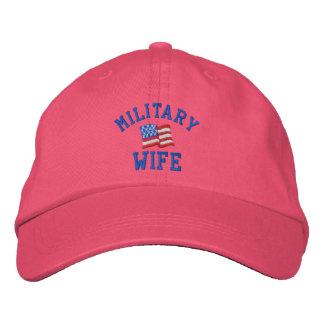 Boné Bordado Esposa militar chapéu bordado